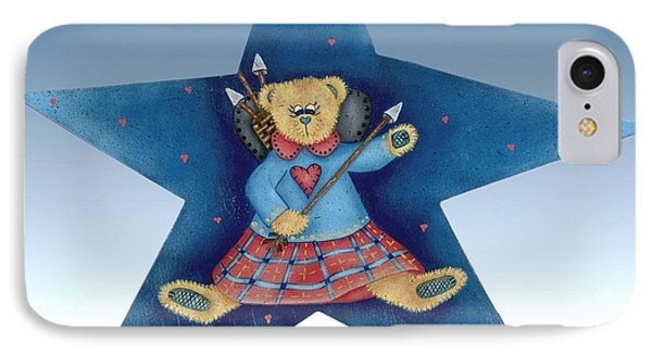 Cupid's Teddy Bear IPhone Case by Tracy Campbell