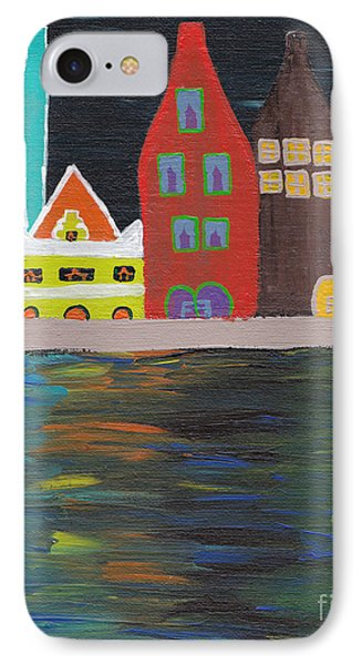 Curacao Nights Phone Case by Melissa Vijay Bharwani