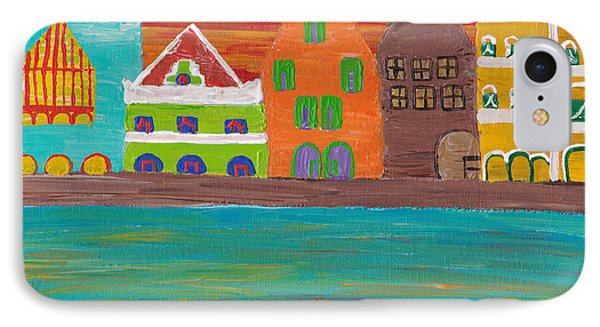 Curacao's Handelskade Abstract Phone Case by Melissa Vijay Bharwani