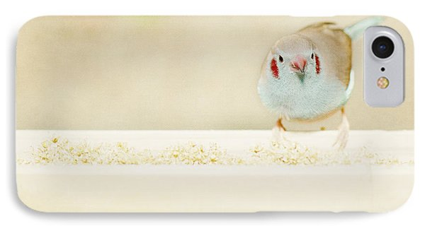 IPhone Case featuring the photograph Curious Cordon Bleu Finch  by Lisa Knechtel