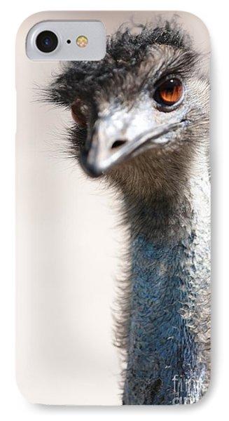 Curious Emu IPhone Case by Carol Groenen