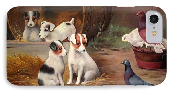 Curious Friends IPhone Case by Hazel Holland