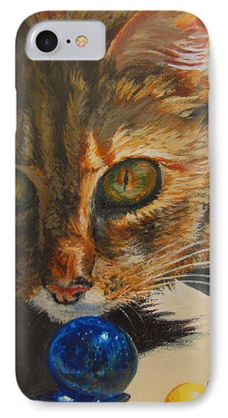 IPhone Case featuring the painting Curious by Karen Ilari