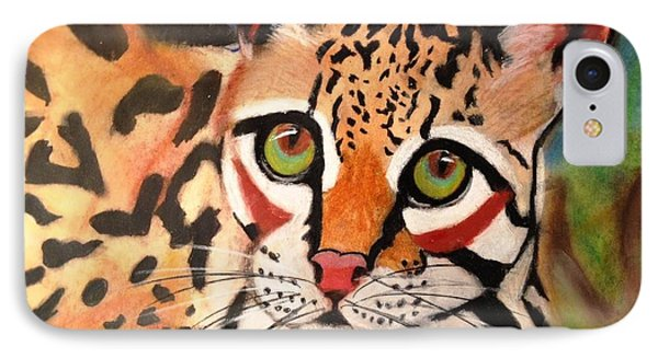 Curious Ocelot IPhone Case by Renee Michelle Wenker