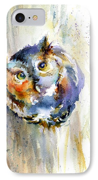 Curious Screech Owl Phone Case by Christy Lemp