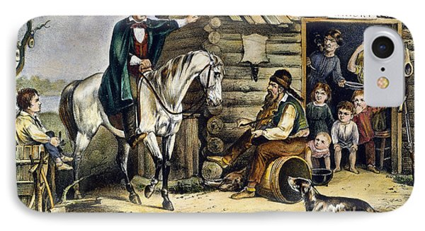 Currier & Ives The Arkansas Traveler IPhone Case by Granger