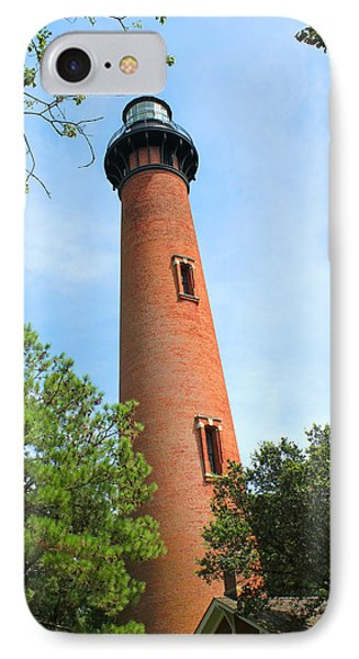 Currituck Beach Lighthouse Corolla North Carolina Outer Banks Obx IPhone Case by Design Turnpike