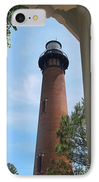 Currituck Light 2 IPhone Case by Cathy Lindsey