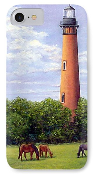 Currituck Lighthouse IPhone Case by Fran Brooks