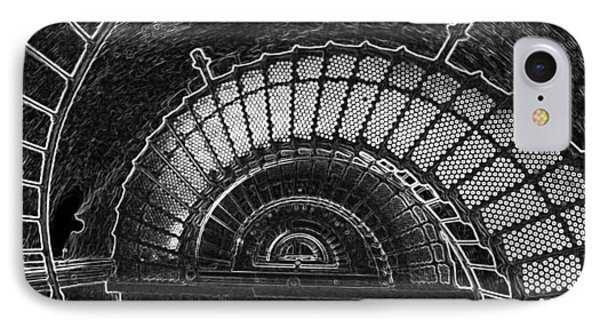 IPhone Case featuring the photograph Currituck Lighthouse Stairs by Greg Reed
