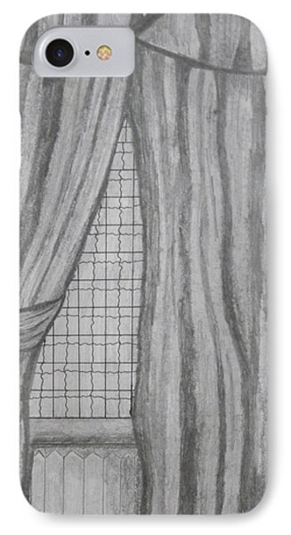 IPhone Case featuring the drawing Curtains In A5 by Martin Blakeley