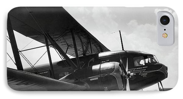 Curtis Condor Sleeper Biplane IPhone Case by Underwood Archives
