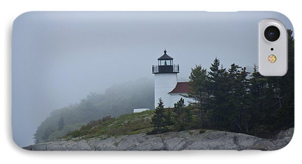 Curtis Island Lighthouse IPhone Case by Daniel Hebard