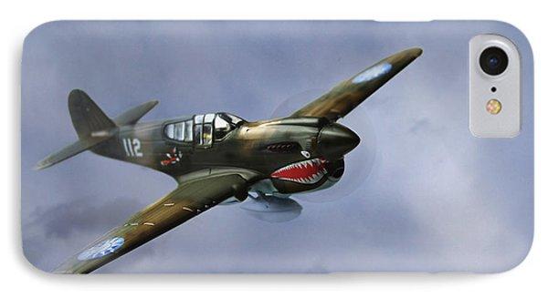 Curtiss P-40 Warhawk IPhone Case by Diane Diederich