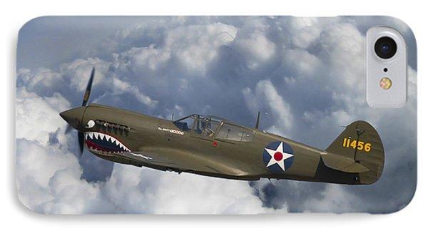 Curtiss P-40 Warhawk Flying Tigers IPhone Case by Adam Romanowicz