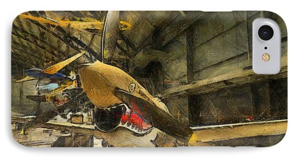 Curtiss P40 Warhawk IPhone Case by Dan Sproul