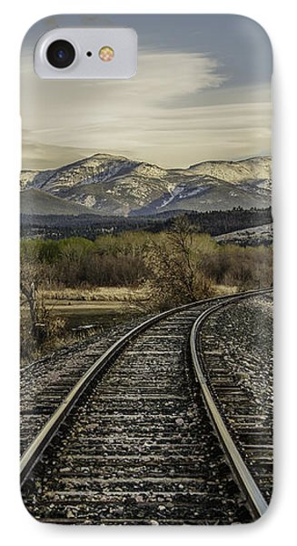 Curve In The Tracks Phone Case by Sue Smith