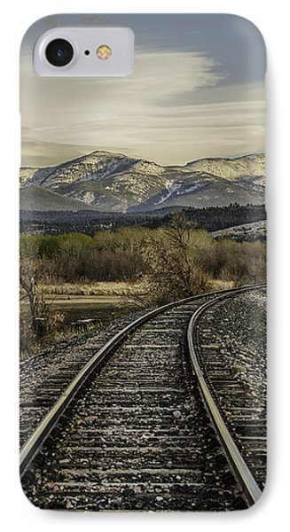 IPhone Case featuring the photograph Curve In The Tracks by Sue Smith