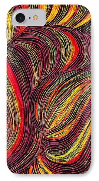 Curved Lines 3 Phone Case by Sarah Loft