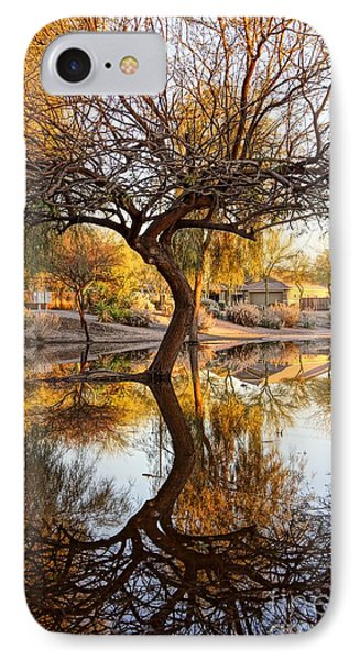 Curved Reflection IPhone Case by Kerri Mortenson