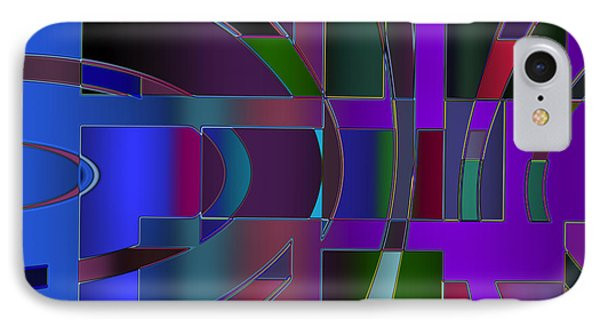 IPhone Case featuring the digital art Curves And Trapezoids 2 by Judi Suni Hall
