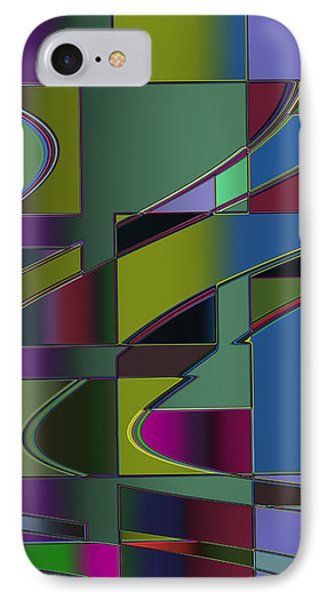 IPhone Case featuring the digital art Curves And Trapezoids 3 by Judi Suni Hall