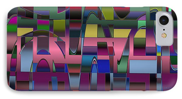 IPhone Case featuring the digital art Curves And Trapezoids  by Judi Suni Hall