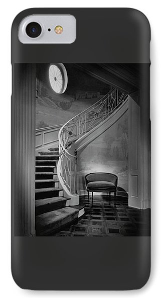 Curving Staircase In The Home Of  W. E. Sheppard IPhone Case by Maynard Parker