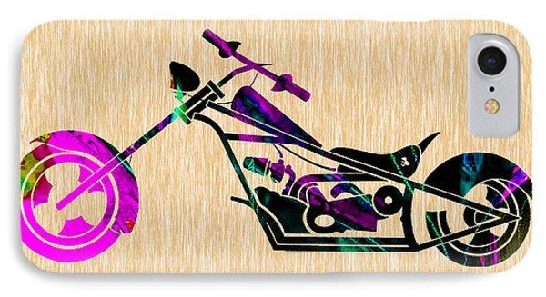 Custom Chopper Motorcycle IPhone Case