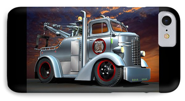 Custom Coe Tow Truck IPhone Case by Stuart Swartz