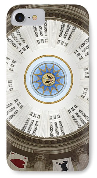 Custom House Tower Ceiling Boston Phone Case by Norman Pogson