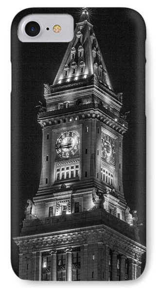 Custom House Tower In Boston IPhone Case by John McGraw