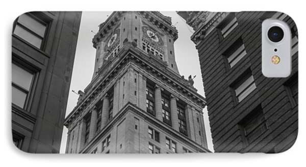 Custom House Tower In Boston Ma IPhone Case by John McGraw
