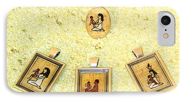 Custom Parent's Amulet Egyptian Papyrus Necklace Phone Case by Pet Serrano