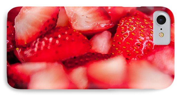 Cut Strawberries IPhone Case by Todd Soderstrom