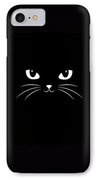 Cute Black Cat IPhone Case