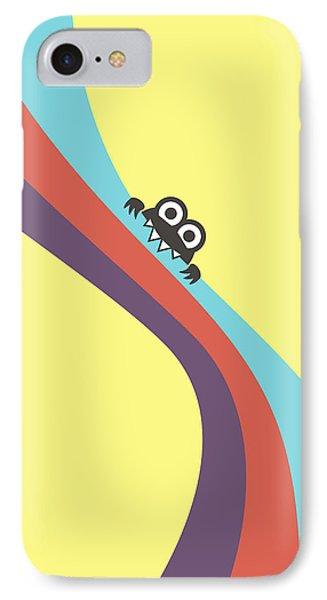 Cute Bug Bites Candy Colored Stripes Phone Case by Boriana Giormova