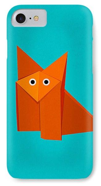 Cute Origami Fox Phone Case by Boriana Giormova