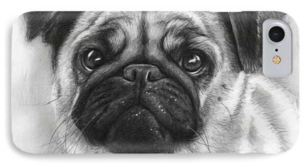 Cute Pug Phone Case by Olga Shvartsur