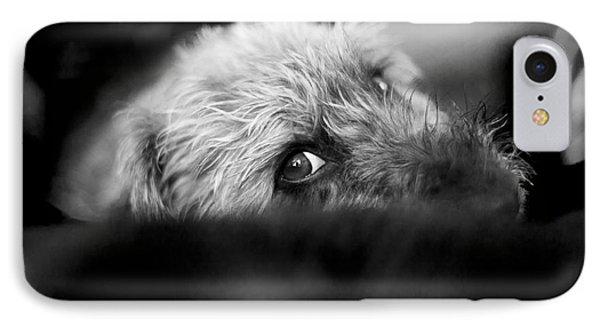 Cute Pup Sneek A Peek Phone Case by Natalie Kinnear