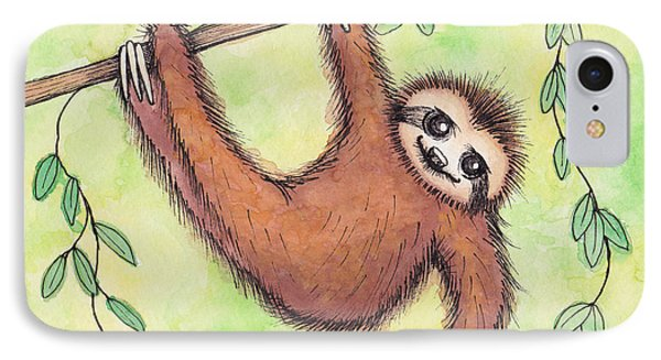 Sloth IPhone Case by Melissa Rohr Gindling
