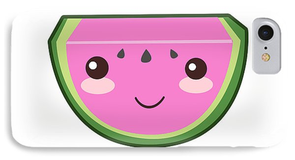 Cute Watermelon Illustration IPhone 7 Case by Pati Photography