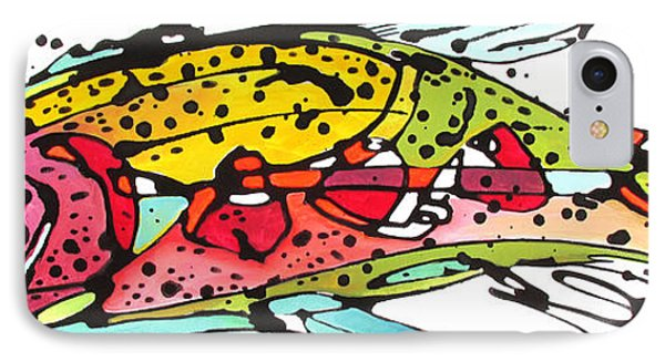 IPhone Case featuring the painting Cutthroat Trout by Nicole Gaitan