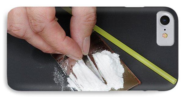 Cutting Up Cocaine IPhone Case by Public Health England