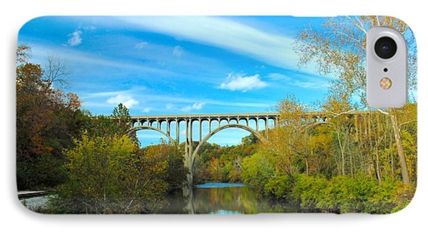 IPhone Case featuring the photograph Cuyahoga Valley Scenic Railroad - Brecksville Station by Dennis Lundell