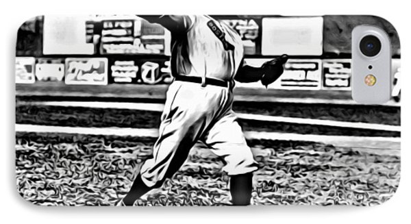 Cy Young Pitching IPhone Case by Florian Rodarte