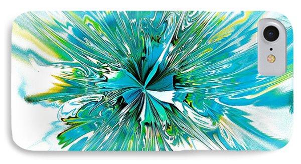 Cyan Blue IPhone Case by Anastasiya Malakhova
