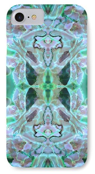 Cyan Fairy Kiss Of Enlightenment IPhone Case by Deprise Brescia