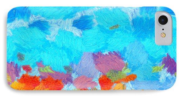 Cyan Landscape IPhone Case by Pixel Chimp