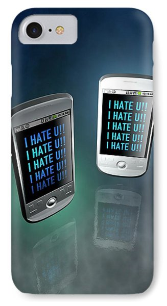 Cyber Bullying IPhone Case by Victor Habbick Visions